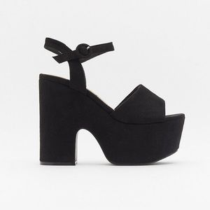 Brand new Nasty Gal black platform sandals / heels